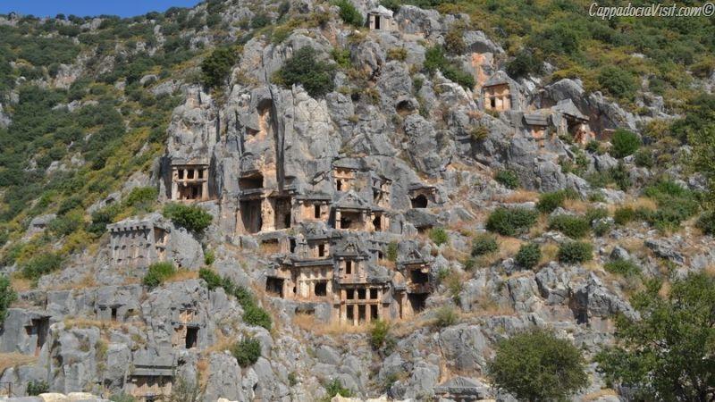 Мира (Демре) - Ликийские скальные гробницы