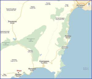 Древний город Мира (Демре) на карте