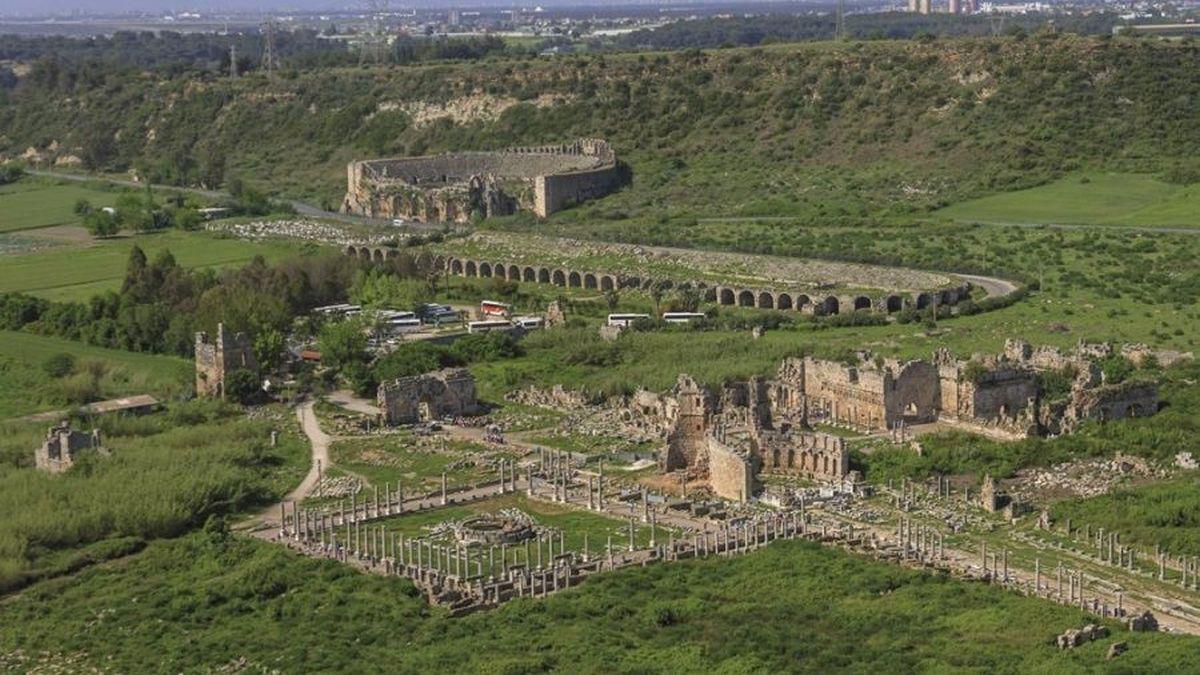 Общий вид города Перге