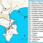 План Фаселиса - план-схема руин города