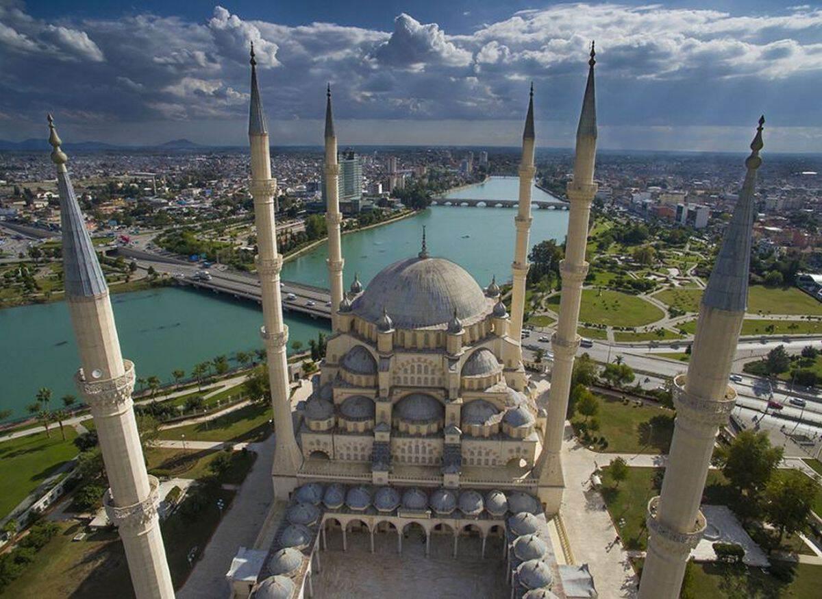 Адана - вид на город, фото с высоты птичьего полета