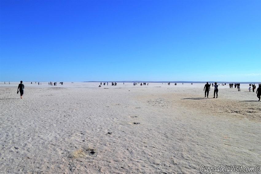 Озеро Туз летом покрывается солью