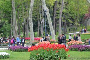 Парк в Стамбуле весной