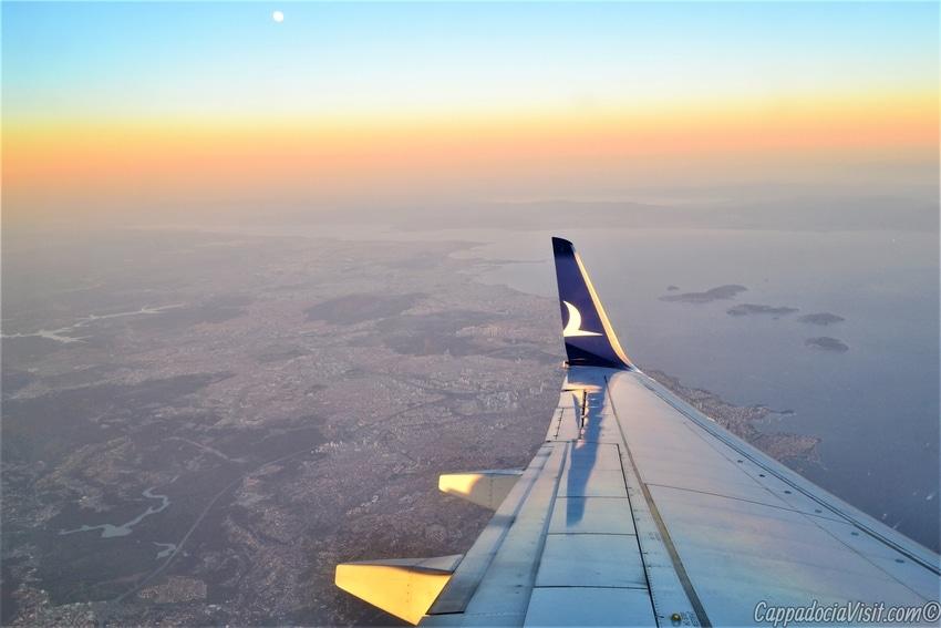 Полёт над Стамбулом при закате