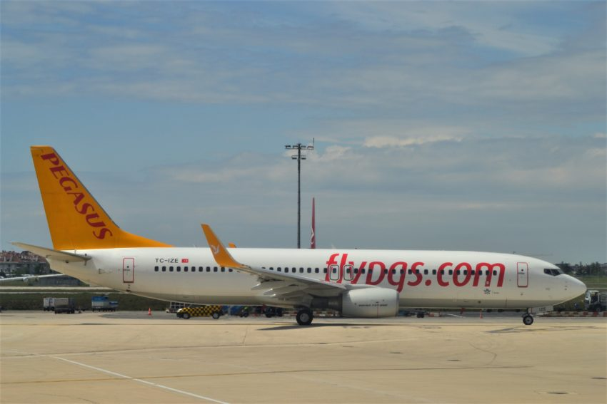 "Самолет лоукостера ""Pegasus Airlines"""