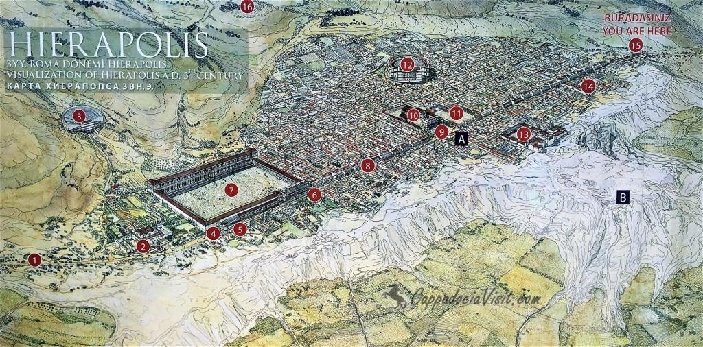 План - карта Иераполиса