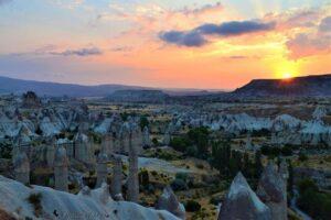 Красота восхода солнца в Каппадокии