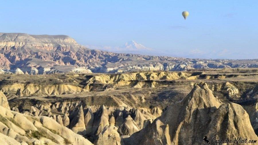 Гора Эрджиес и пейзаж Каппадокии