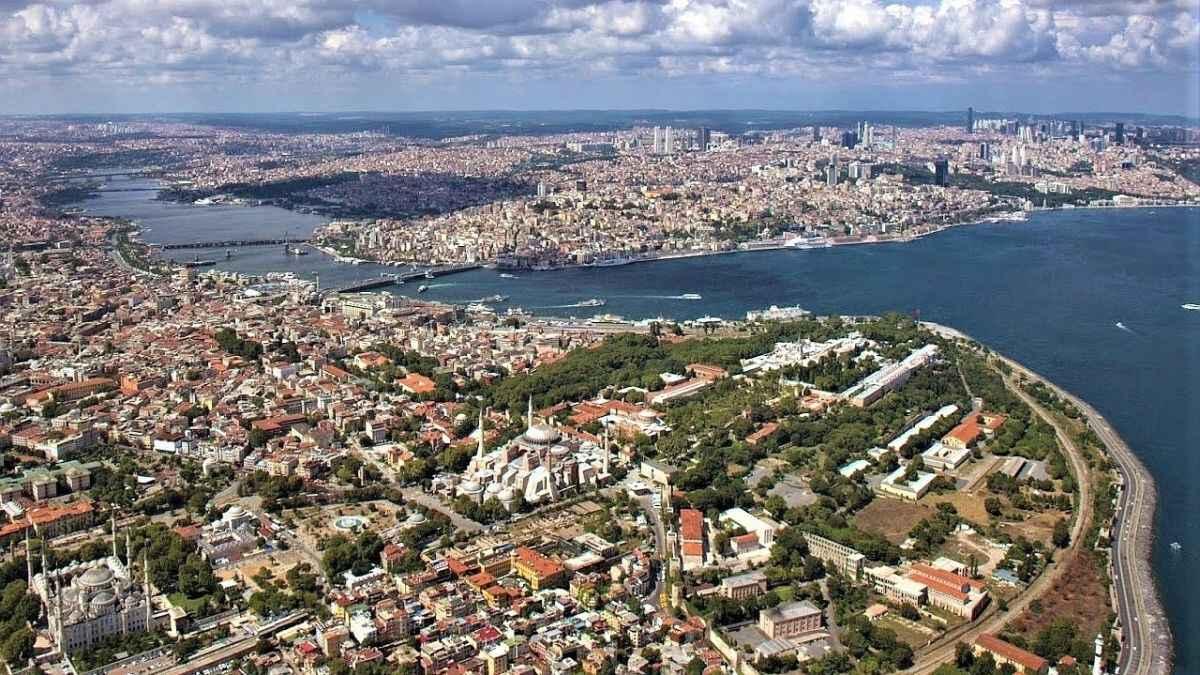 Золотой рог и исторический полуостров Стамбула