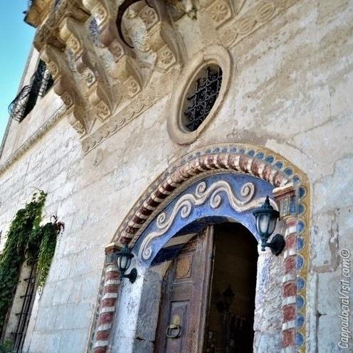 Входная дверь особняка в Мустафапаше