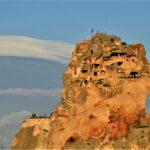 Ортахисар верхняя часть крепости перед закатом