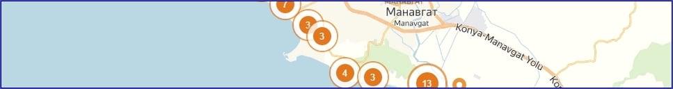 Отели Сиде на карте