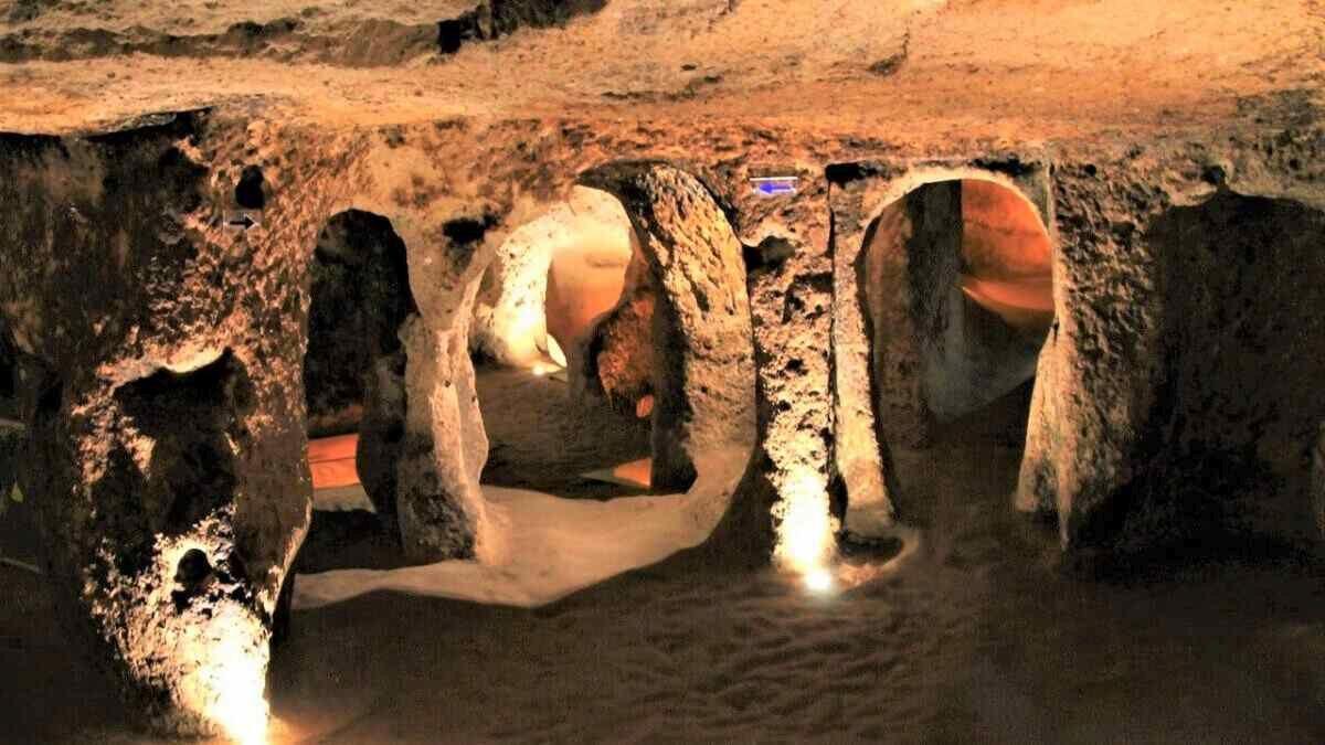 Подземные города Каппадокии - Тоннель в городе Каймаклы