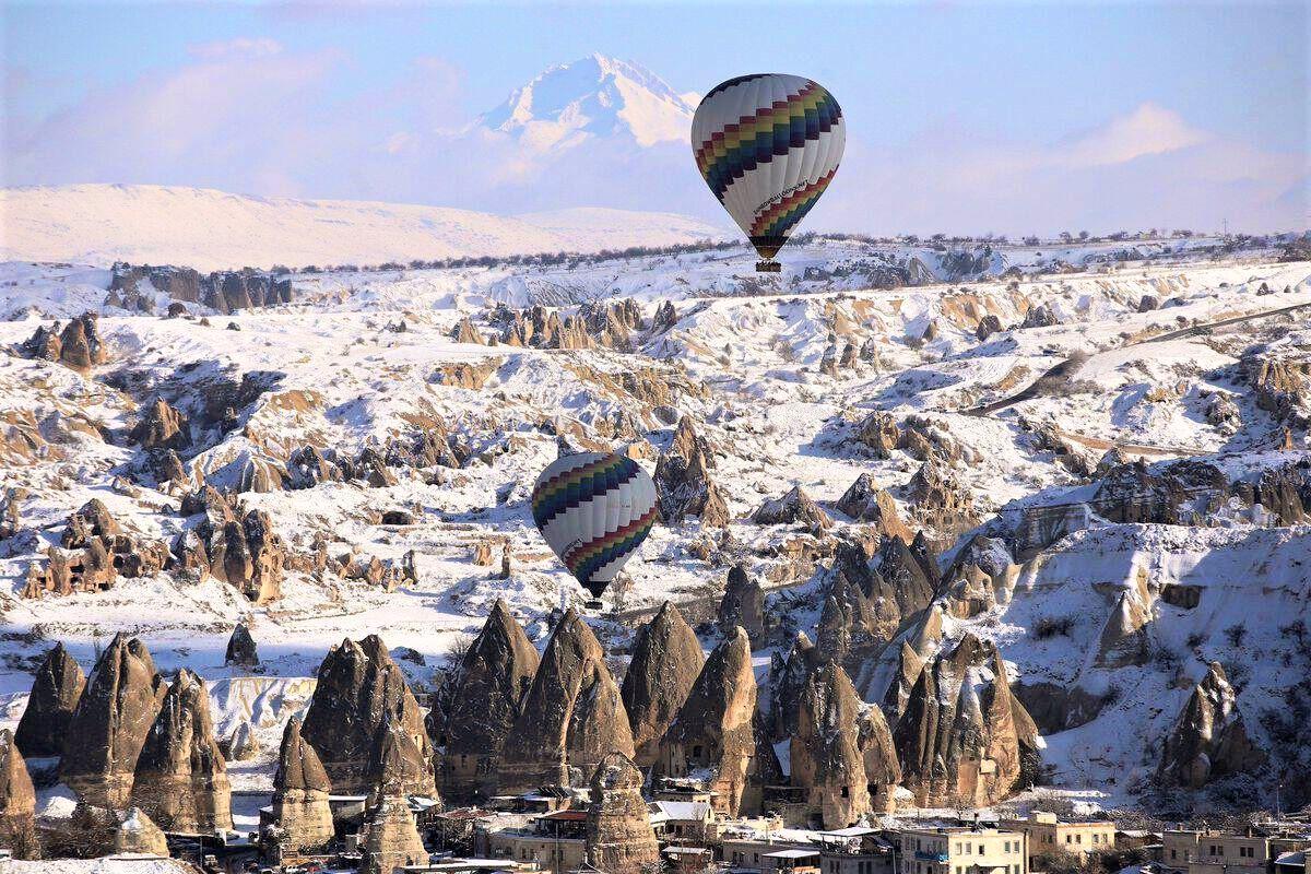 Каппадокия зимой по-другому красива, особенно если есть снег
