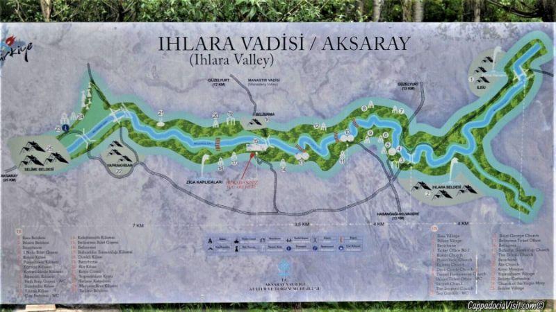 План-схема долины Ихлара