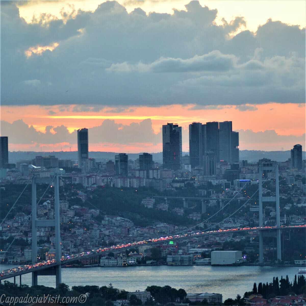 Стамбул - Закат над Босфором